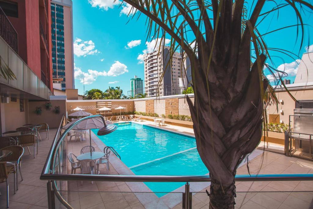 A view of the pool at Hotel Rafain Centro or nearby