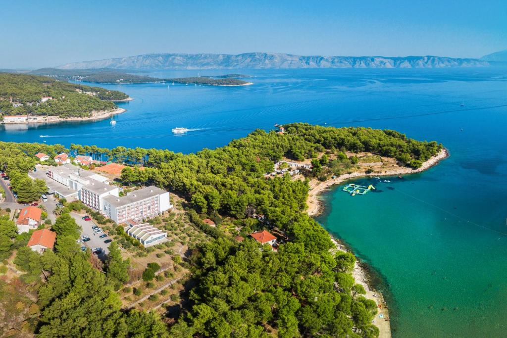 A bird's-eye view of Hotel Hvar - All Inclusive