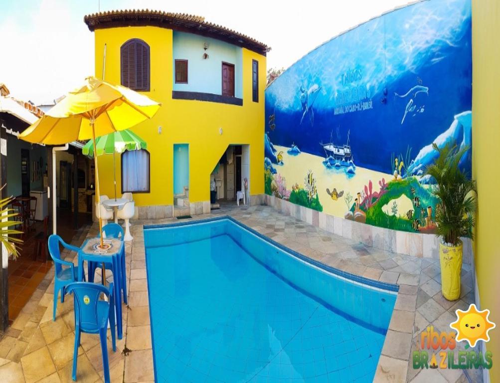 The swimming pool at or close to Tribos Brazileiras Pousada