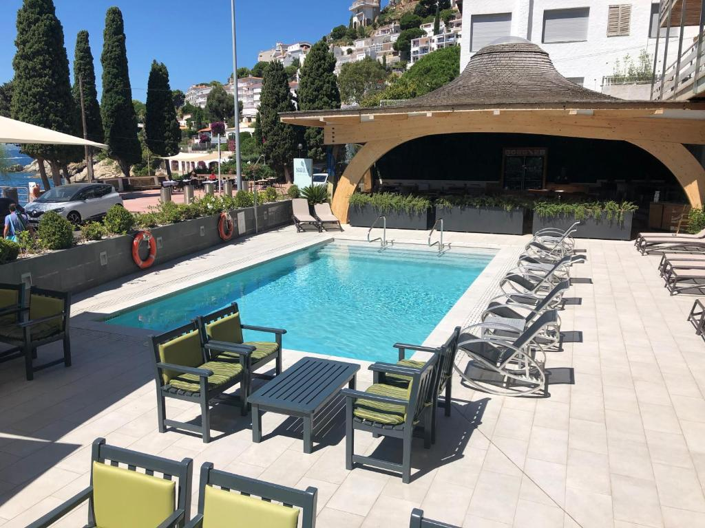 The swimming pool at or near Canyelles Platja