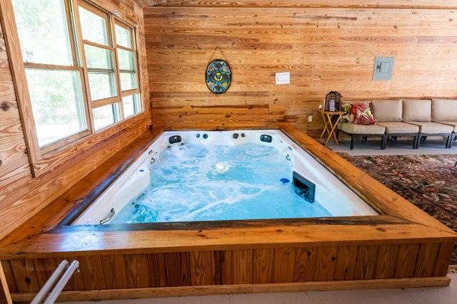 Private Log Cabin With Indoor Pool Sauna And Gym You Rent It All No One Else Mcalpin Updated 2021 Prices