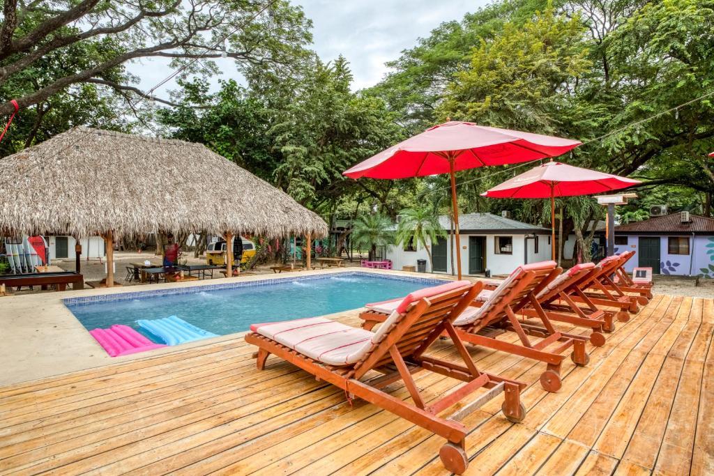 The swimming pool at or near Selina Tamarindo