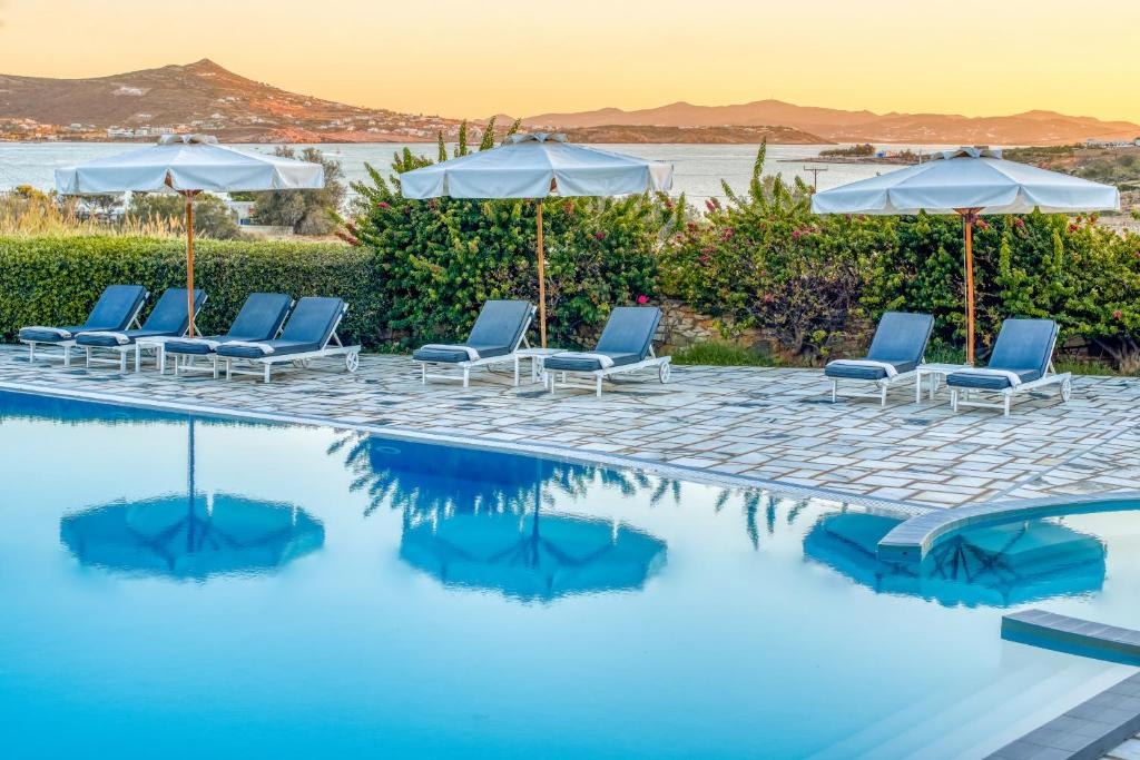 The swimming pool at or near Paros Agnanti Hotel