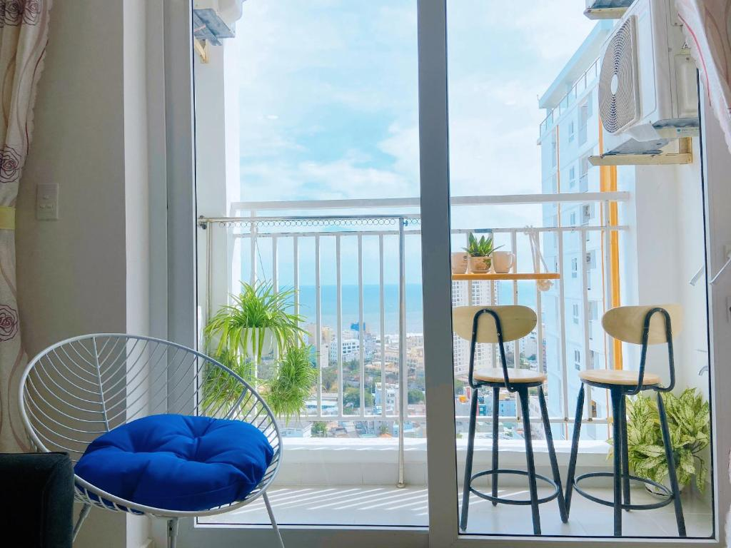 A balcony or terrace at HomeAway - Melody Vung Tau