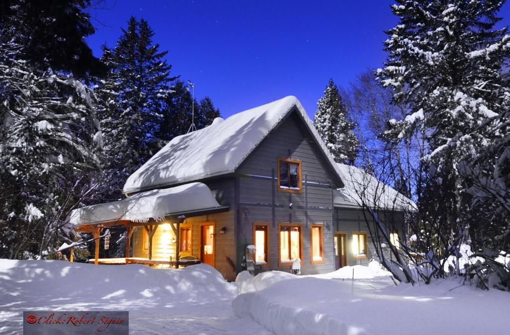 L'établissement Le Domaine de l'Étang en hiver