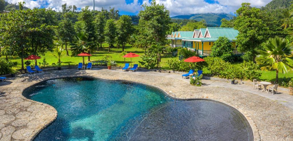 A view of the pool at Rosalie Bay Eco Resort & Spa or nearby