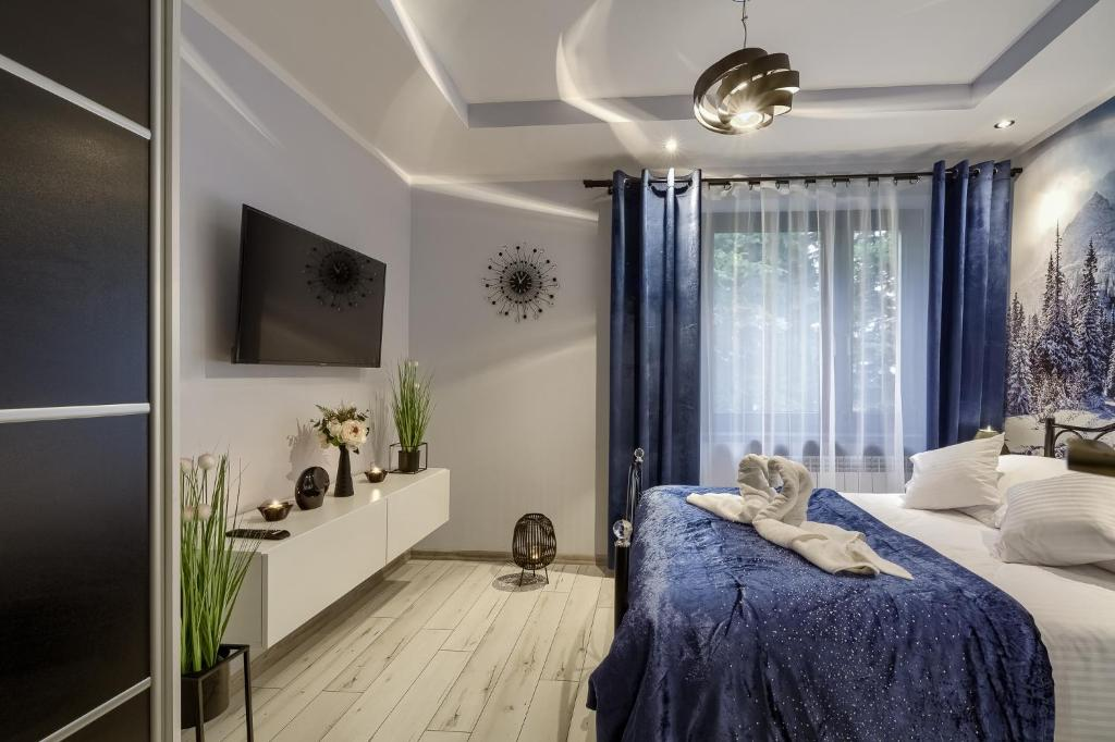 A television and/or entertainment center at Apartamenty u Romana