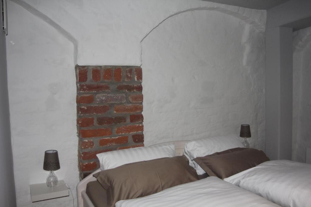 Ein Bett oder Betten in einem Zimmer der Unterkunft Ferienwohnung Mönch49