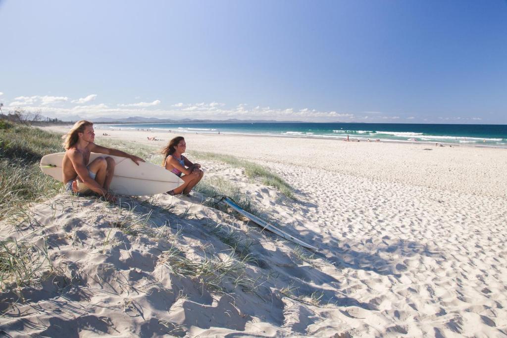En strand i nærheden af vandrehjemmet
