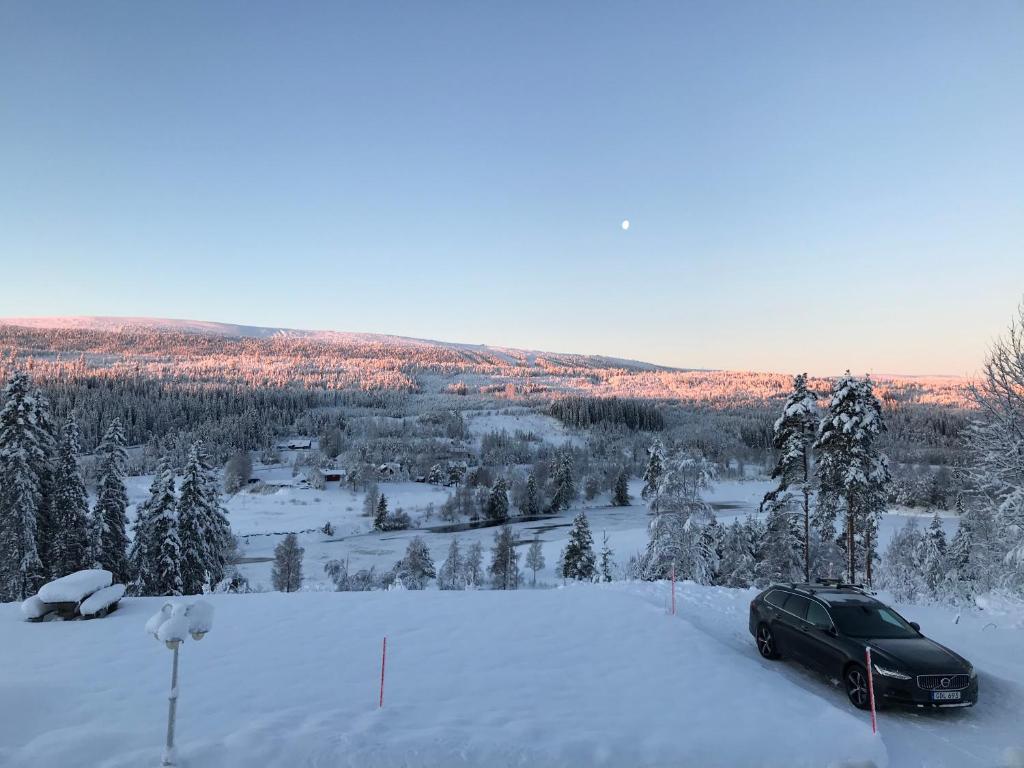 Utsikten i Sälens by during the winter