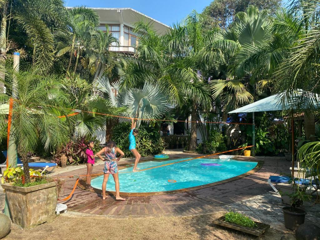 The swimming pool at or near Casa Da Praia