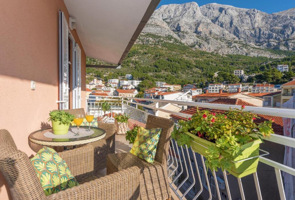 Balkón nebo terasa v ubytování Apartments Luce