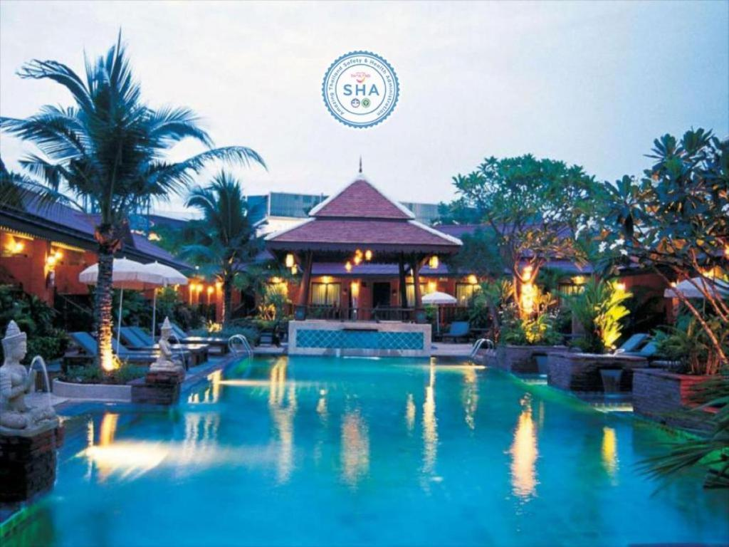 The swimming pool at or near Sabai Resort