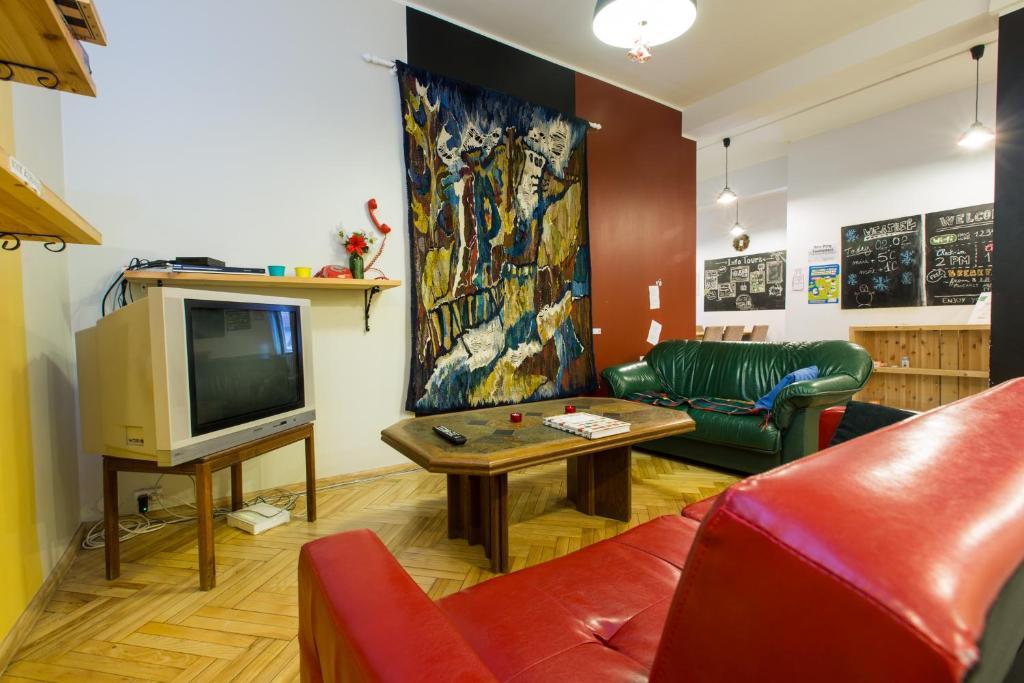 Istumisnurk majutusasutuses Viru Backpackers Hostel