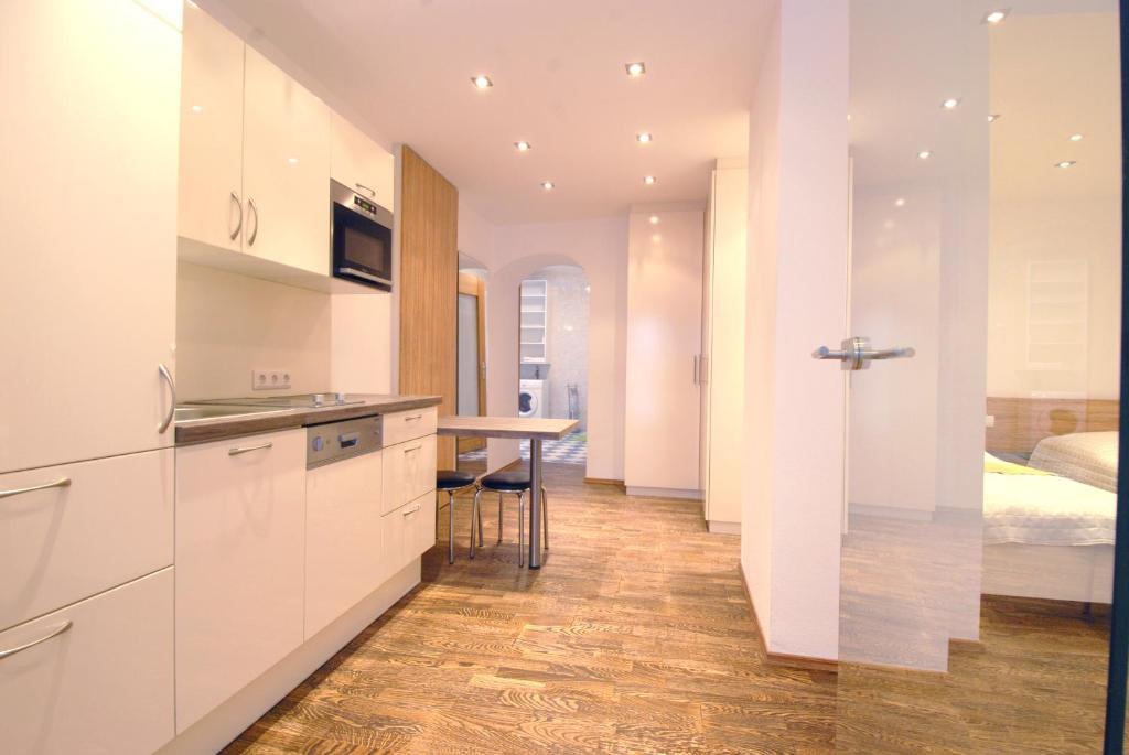 Küche/Küchenzeile in der Unterkunft Appartement Haberl