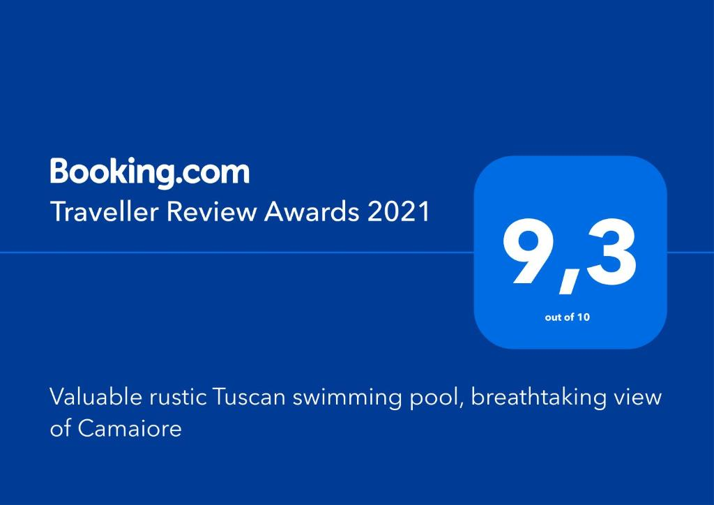 A certificate, award, sign, or other document on display at Valuable rustic Tuscan swimming pool, breathtaking view of Camaiore