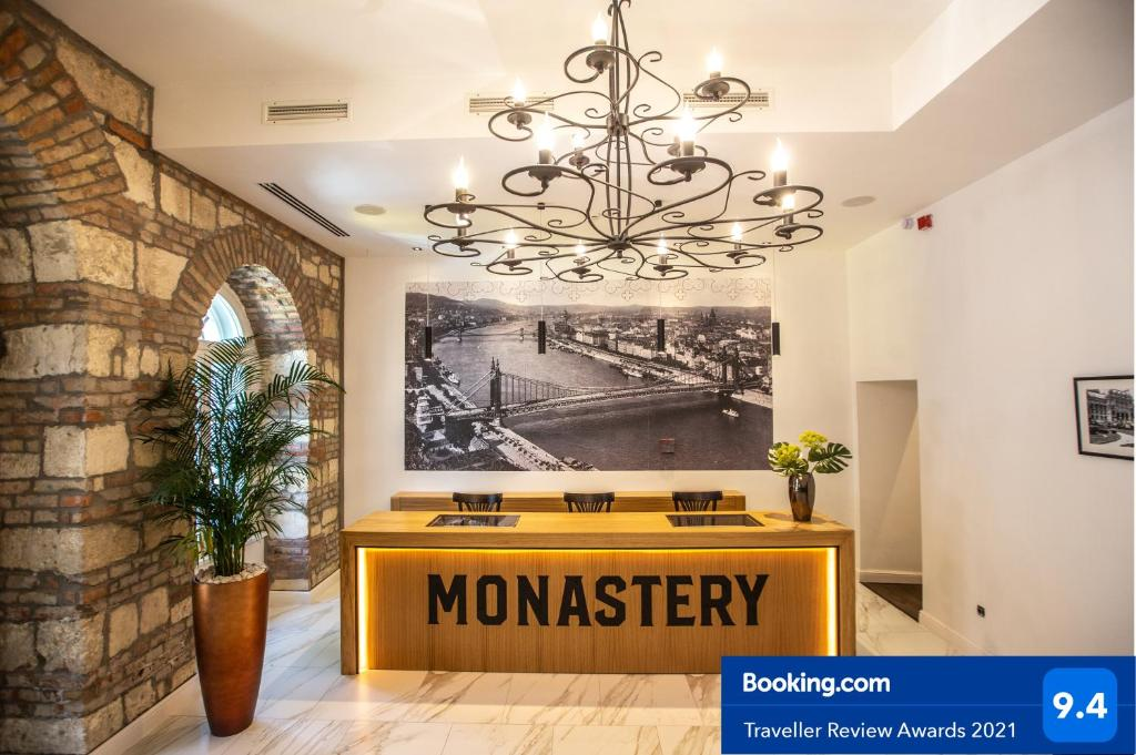 The lobby or reception area at Monastery Boutique Hotel Budapest