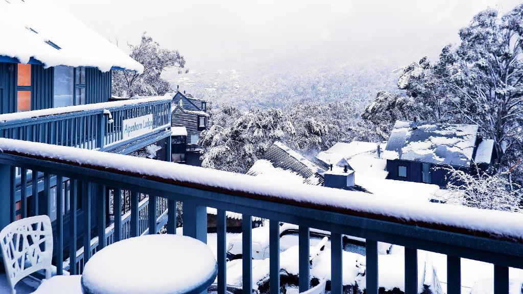 Alpenhorn during the winter