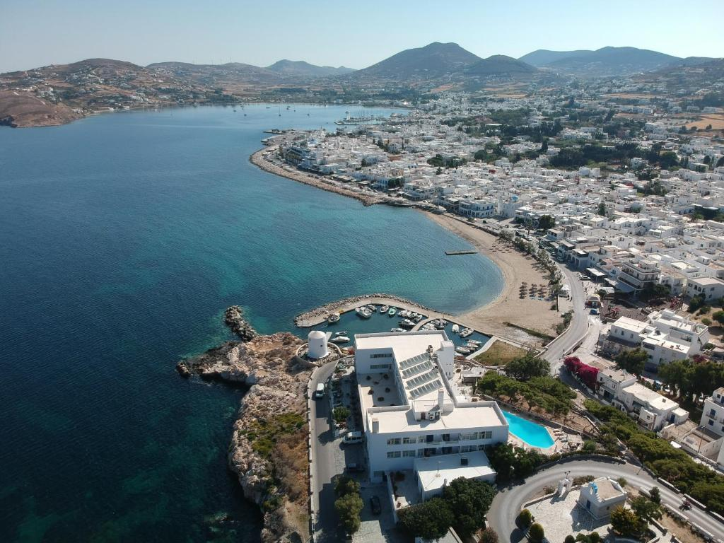 A bird's-eye view of Pandrossos Hotel