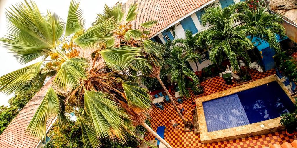Vista de la piscina de Media Luna Hostel Cartagena o alrededores