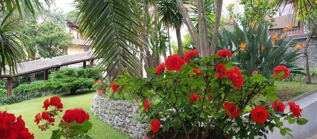 A garden outside Hotel Villa Adriana