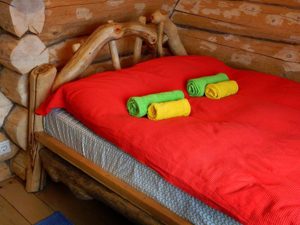 Кровать или кровати в номере Отель Привал путника