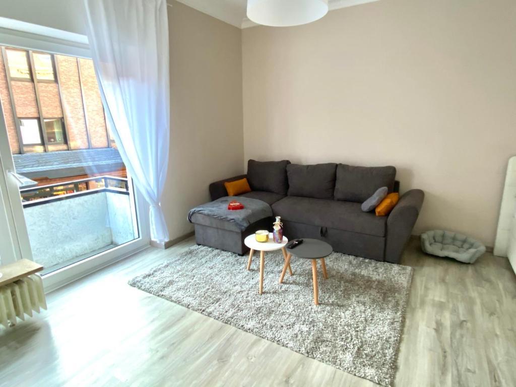 A seating area at Wohnung im Herzen von Bad Salzuflen am Kurpark