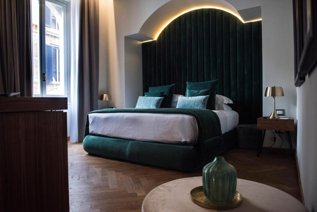 Cama o camas de una habitación en Hotel Sole Al Pantheon