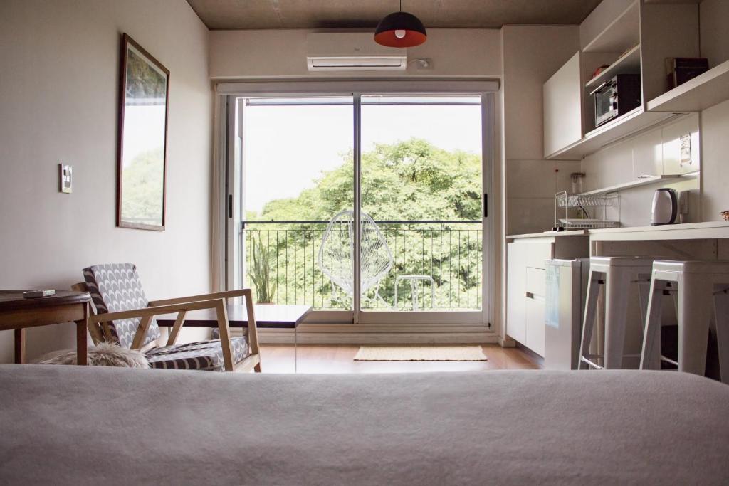 Monoambiente piso 11, hermosa vista. Chacarita