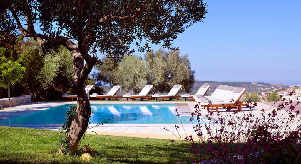 The swimming pool at or near Eliathos Residence Houses