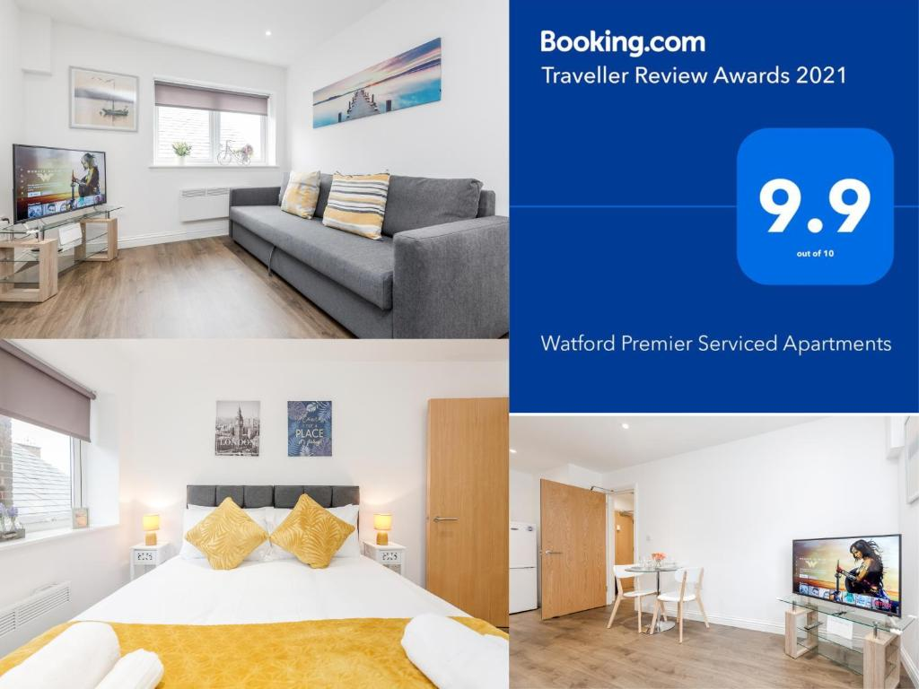 Watford Town Centre, Serviced One Bed Flat with choice of King or Twin Beds, Sleeps Up To 4 Sharing, FREE WiFi and FREE Movies
