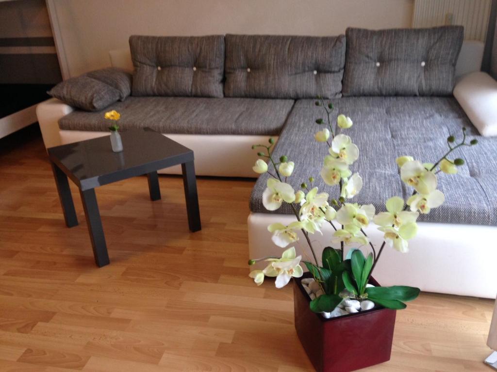 Ein Sitzbereich in der Unterkunft Ferienwohnung Michelle Werkling