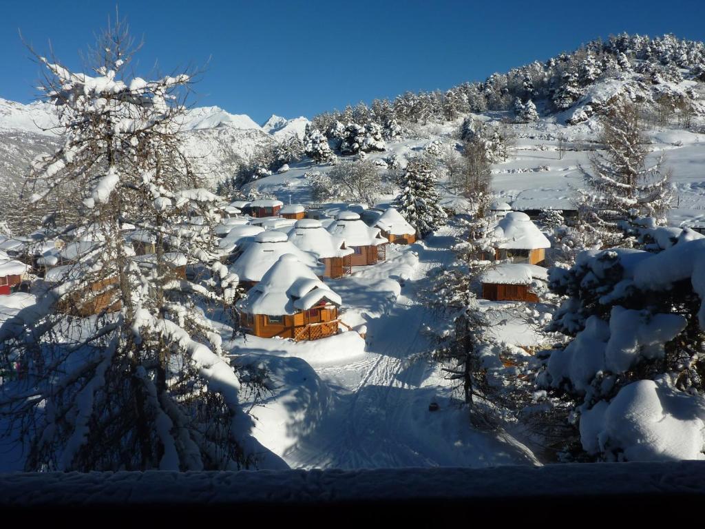 Dalai Lama Village in de winter