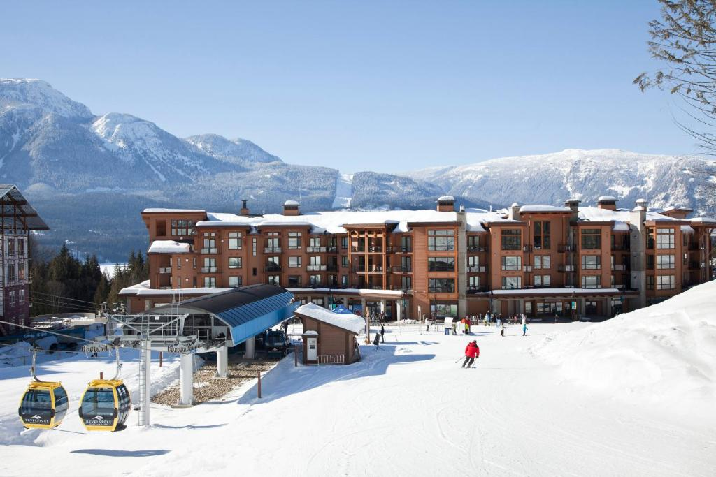 Sutton Place Hotel Revelstoke Mountain Resort during the winter