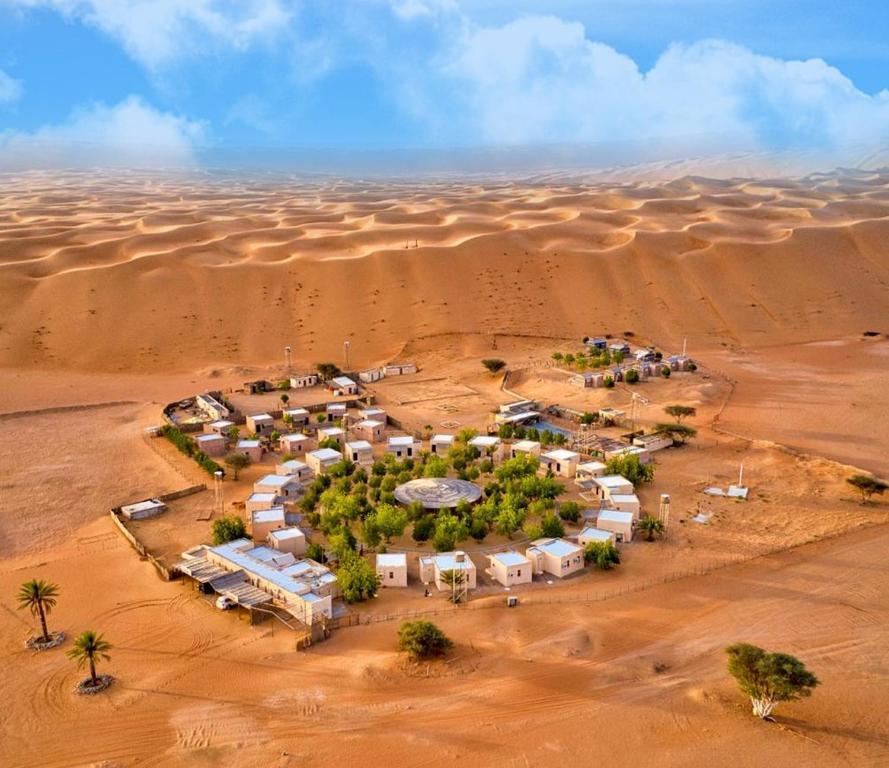 A bird's-eye view of Sama al Wasil Desert Camp
