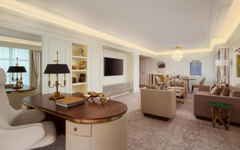 A room at the Ritz Carlton Moscow.