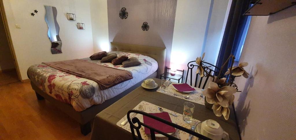 Un ou plusieurs lits dans un hébergement de l'établissement Chambre d'Hotes Le Saut de La Truite