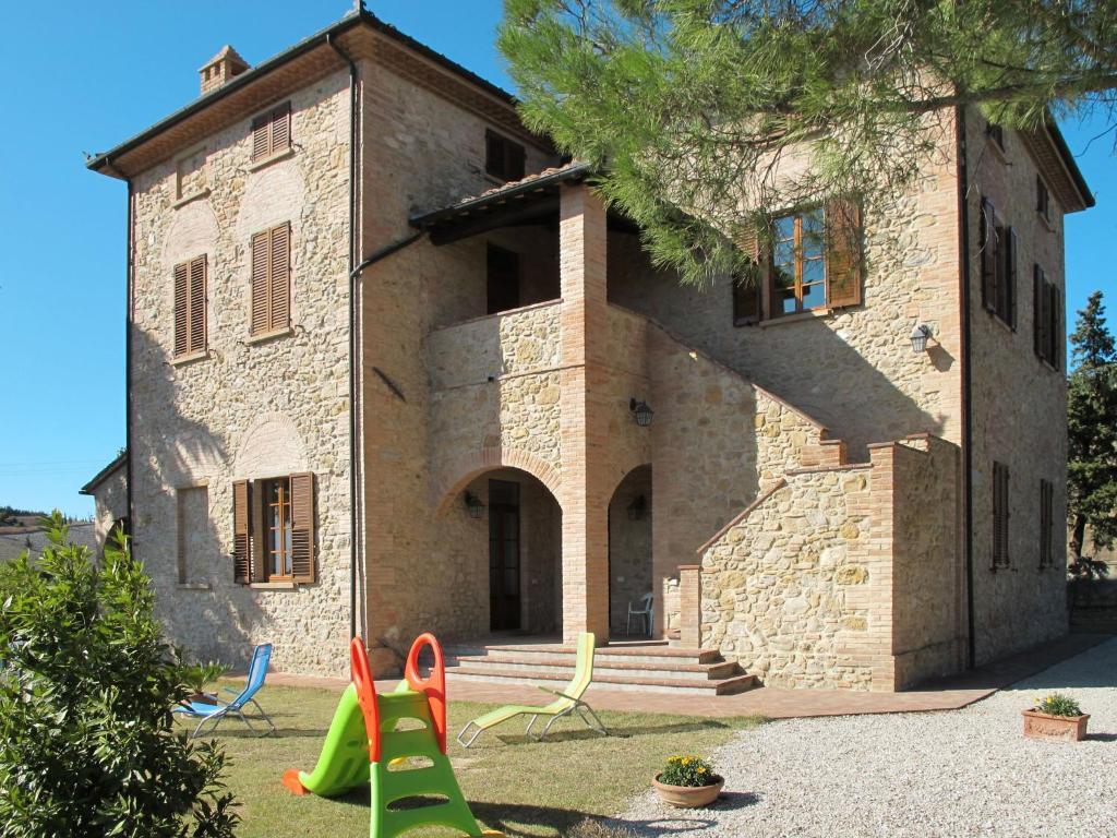 Children's play area at Locazione Turistica Villa Caggio - VOL140