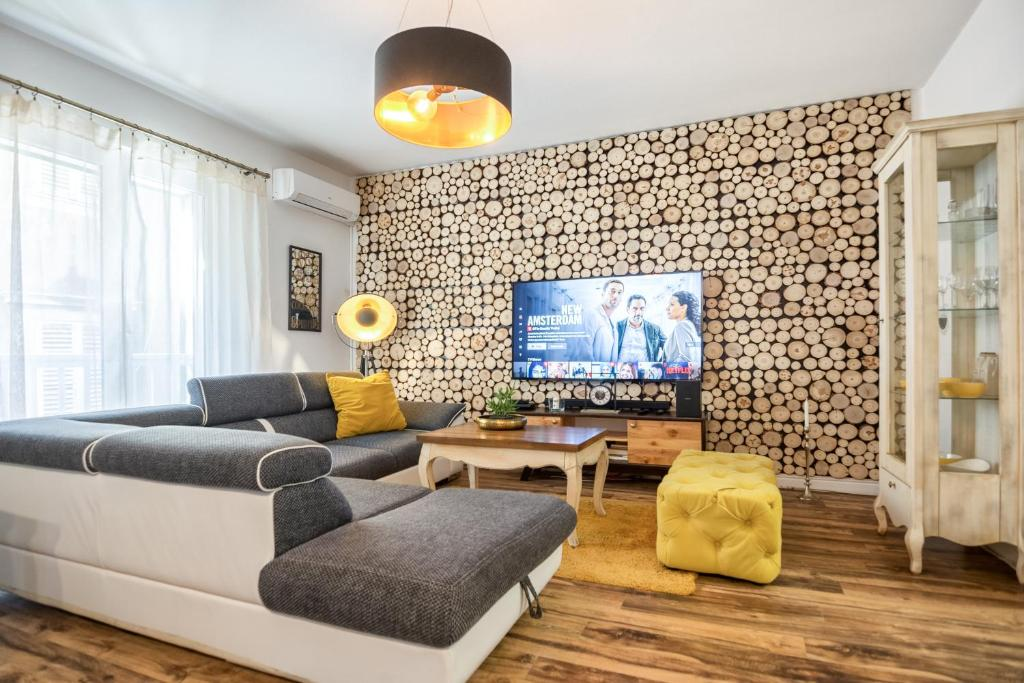 A seating area at Francesca Luxury Apartment