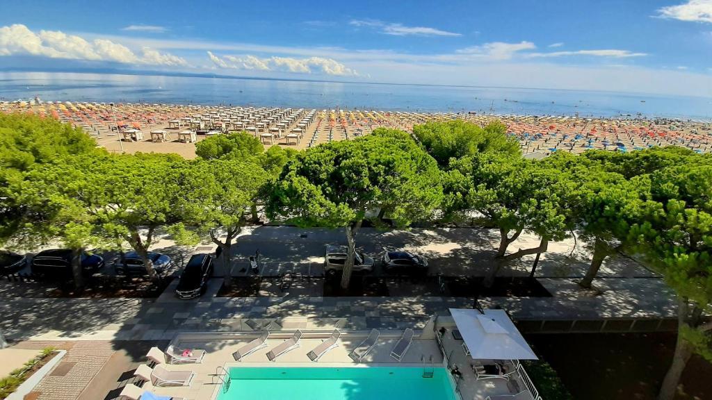 Letecký snímek ubytování Grand Hotel Playa
