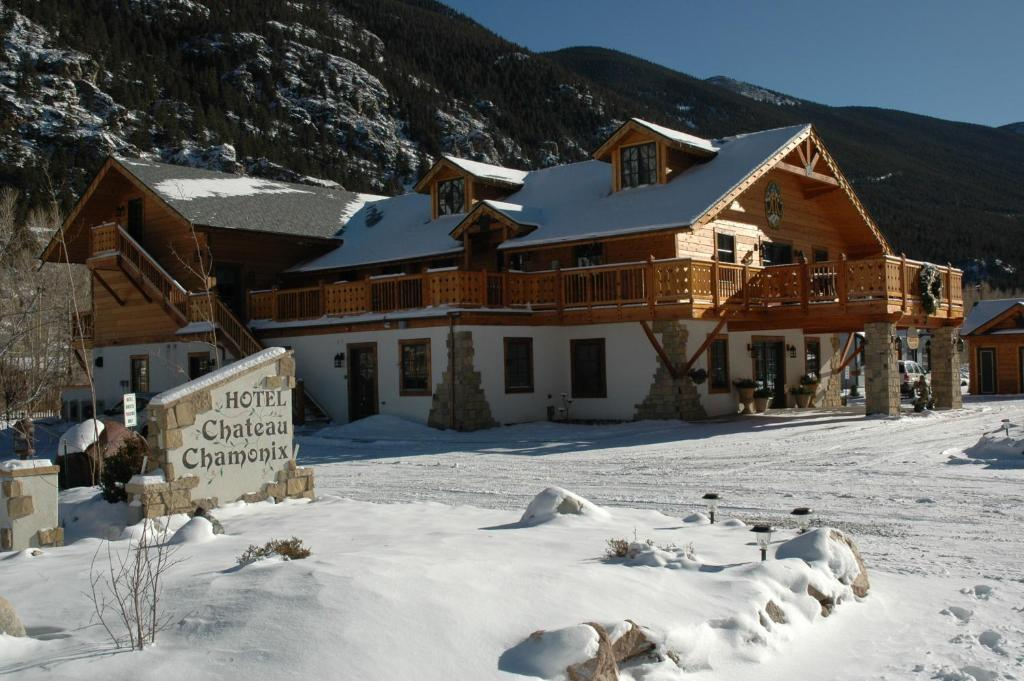 Hotel Chateau Chamonix during the winter