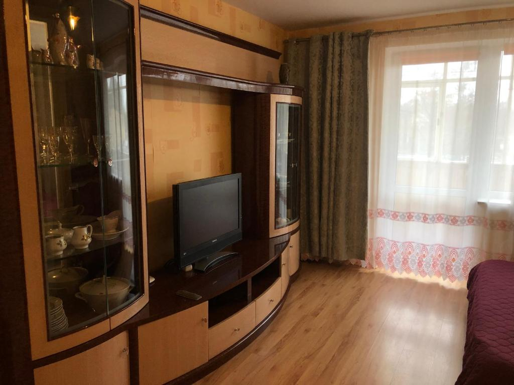 A television and/or entertainment center at Apartment on Lermontova