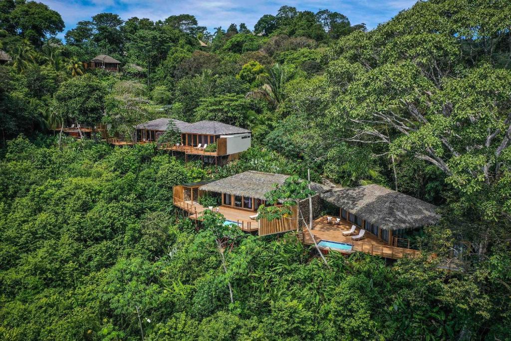 A bird's-eye view of Lapa Rios Lodge