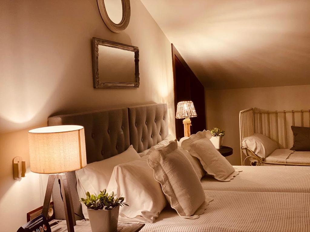 Cama o camas de una habitación en Casa Ruy Lopez