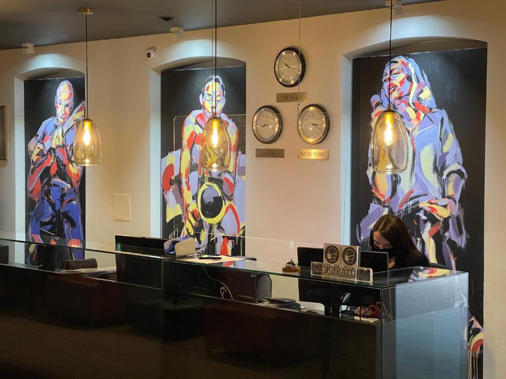 The lobby or reception area at Jazz Hotel Navalis, Tubinas Hotels