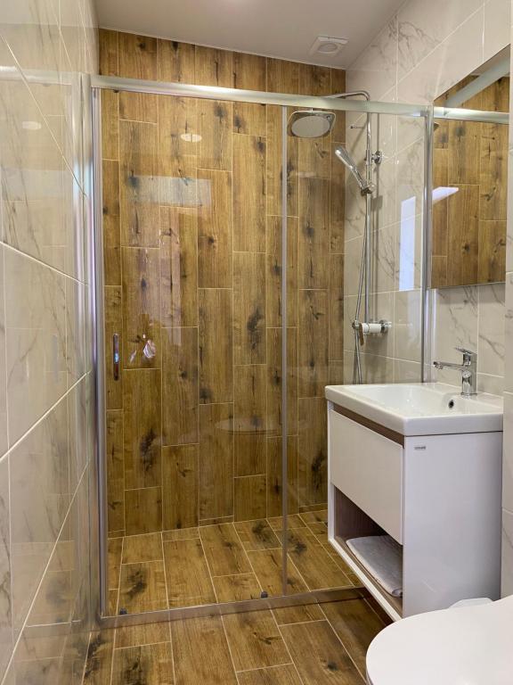 Ванная комната в Отель Черноморская