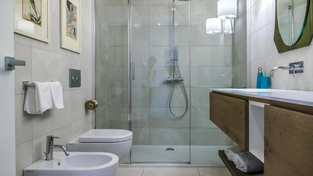 A bathroom at Porto Vecchio Appartamenti