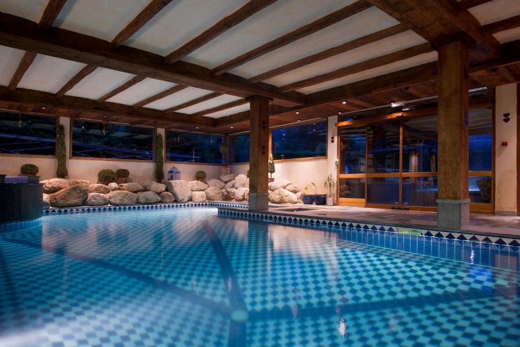 The swimming pool at or near Les Grands Montets