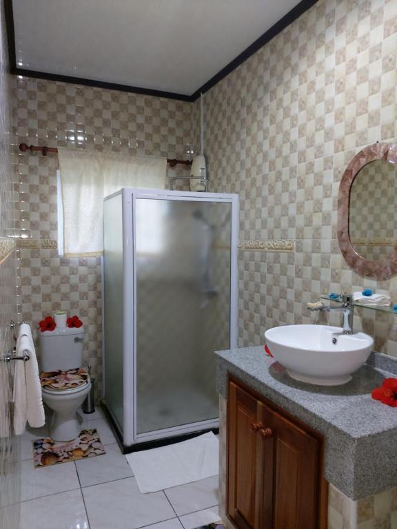 Ванная комната в Leo's Petit Villa Annex