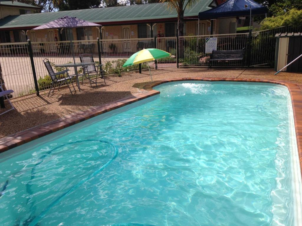 The swimming pool at or near Country Rose Motel Warwick